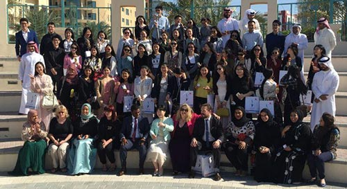A group photograph of the HRD Group at the Ministry for Youth and Sports Affairs, Manama, Bahrain